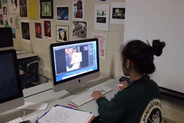 Photography student puts in overtime
