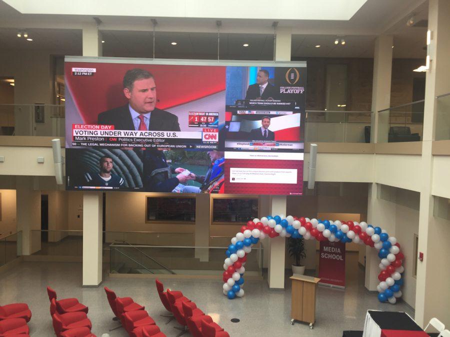 Media school serves as election hub