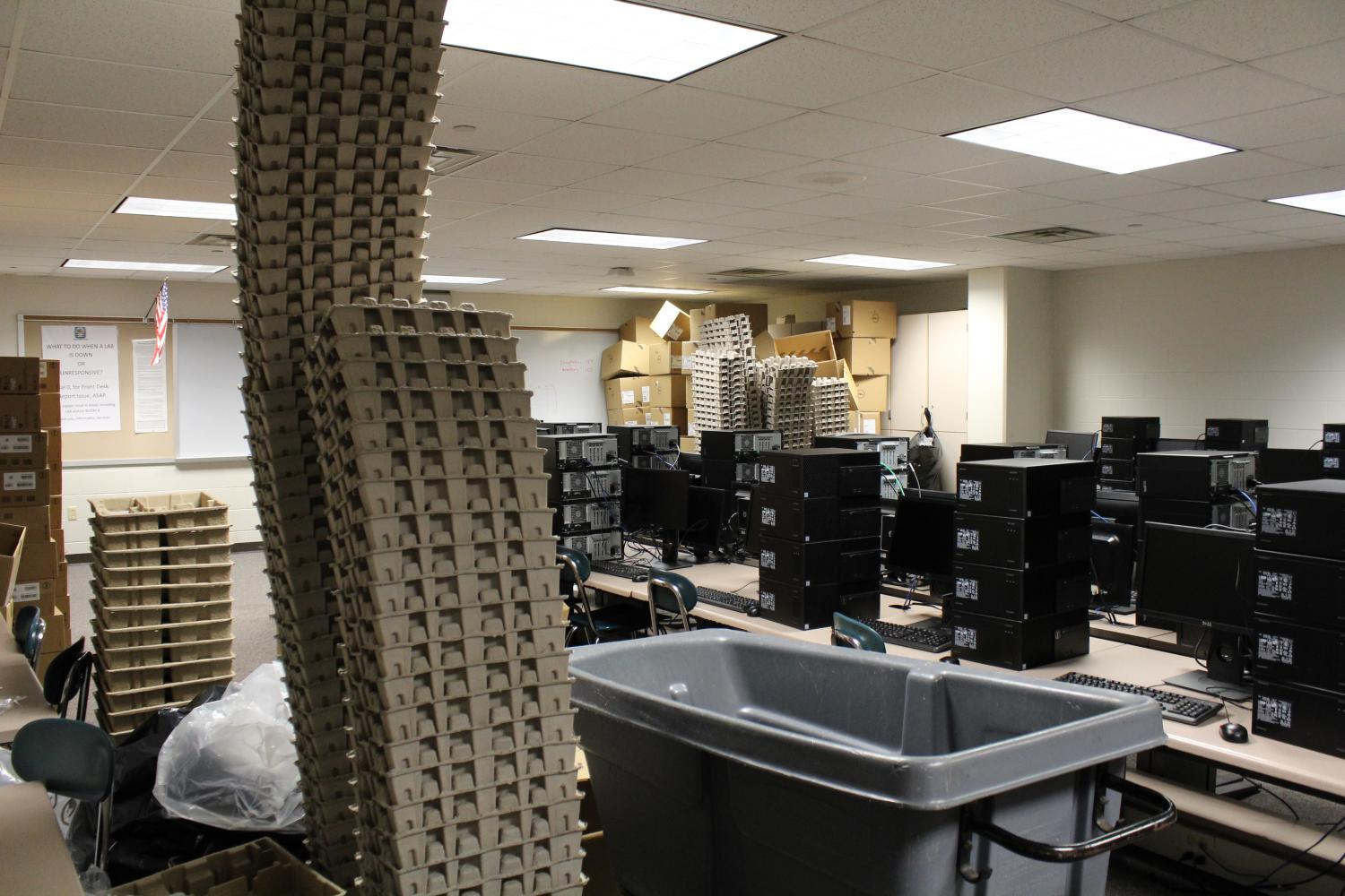 New computers arrive for teachers!