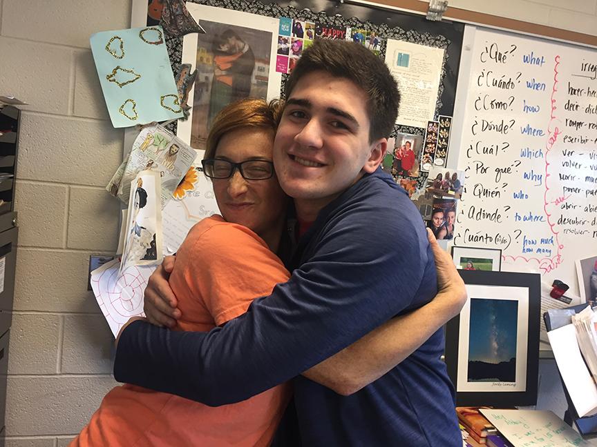 Students celebrate spanish teacher Abby Gray's birthday