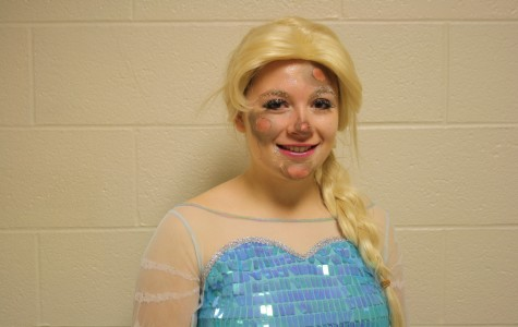 Senior Hannah Decker woke up bright and early to create her frostbitten Elsa look