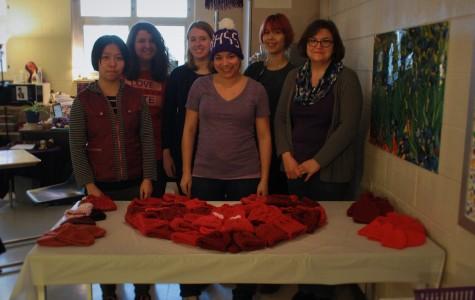 South's knitting club donates hats