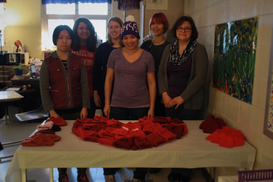 South's knitting club donates hats