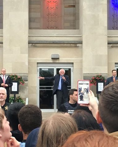 South students feel the Bern at rally