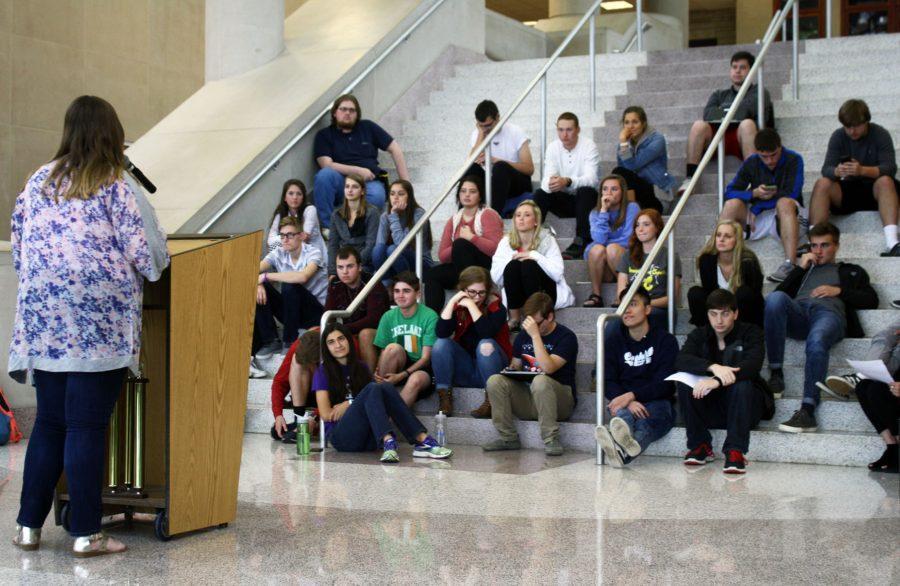 Speeches in the atrium
