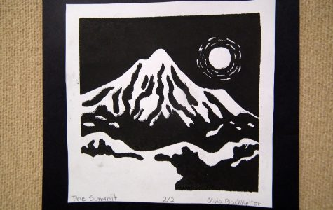 Students printmaking