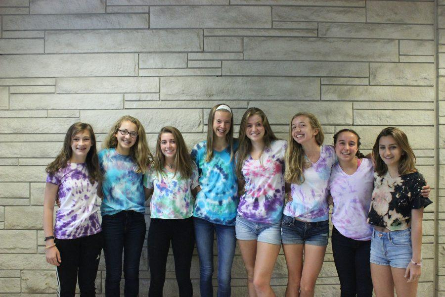 Girls cross country is tie-dyed