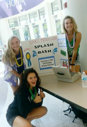 Dance marathon pool party fundraiser