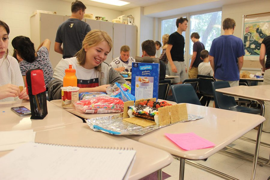 Students create edible roads