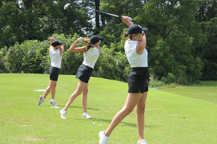 Girls golf competes against North (Gallery)