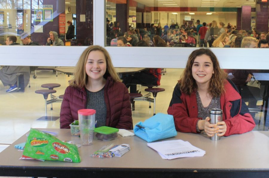 Yearbook sales at lunch