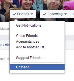 No, I didn't unfriend you over politics