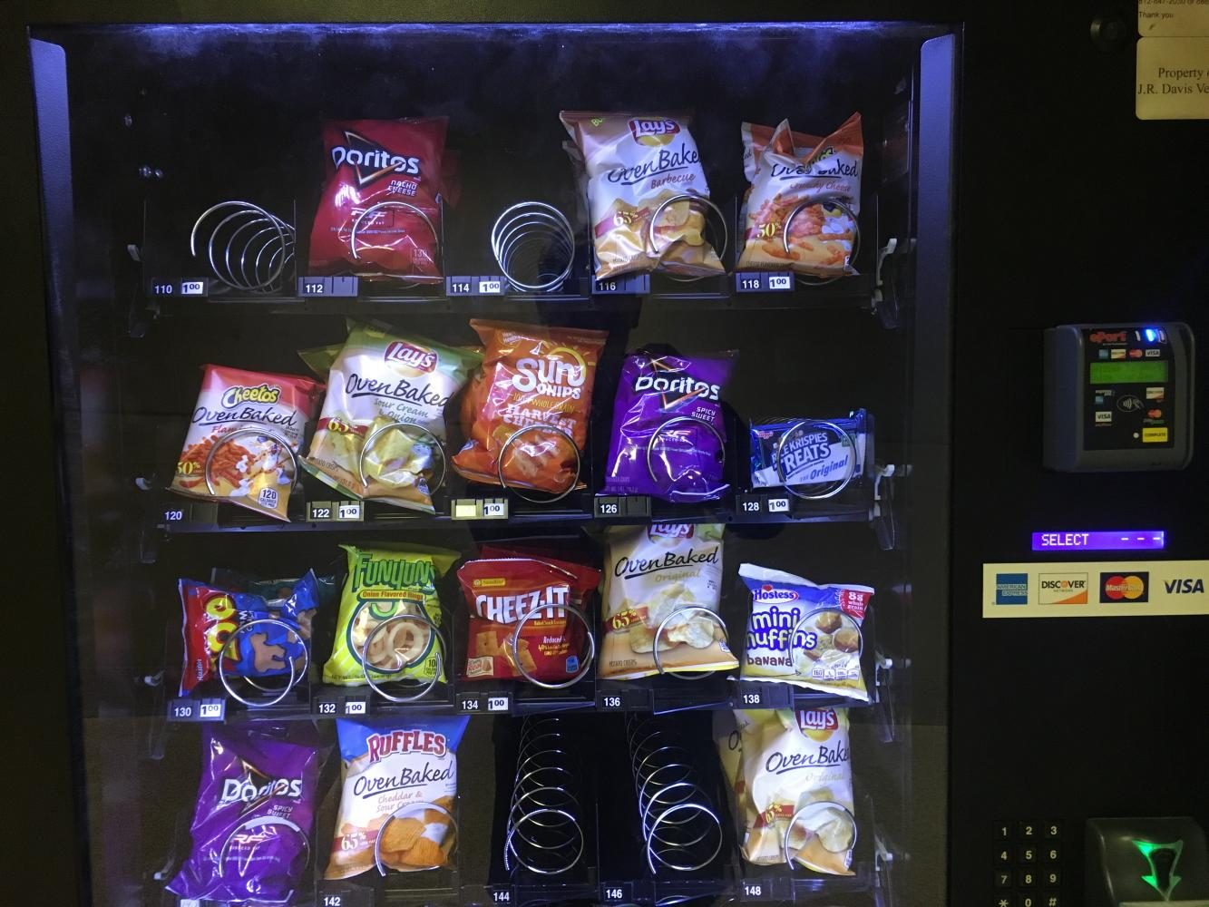 New Snacks In Vending Machines