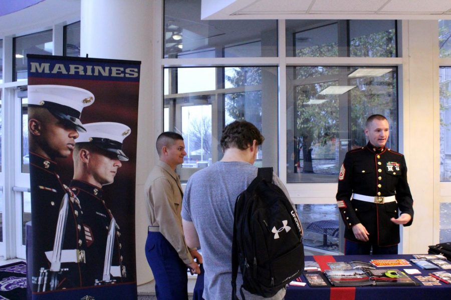 The Marine Corps. Visit BHSS at Lunch