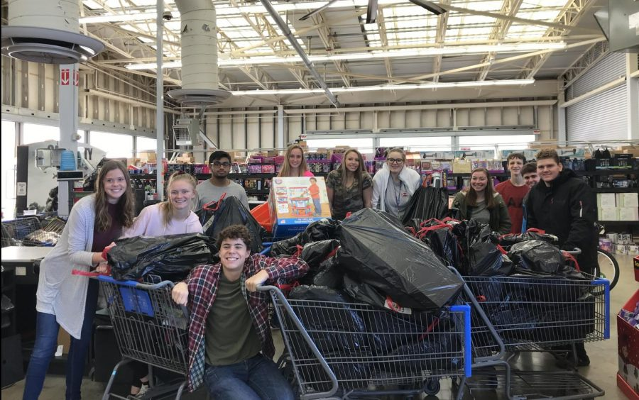 Student council shops for Christmas Angel Tree