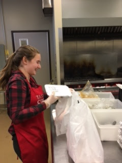 Interact Club visits the community kitchen