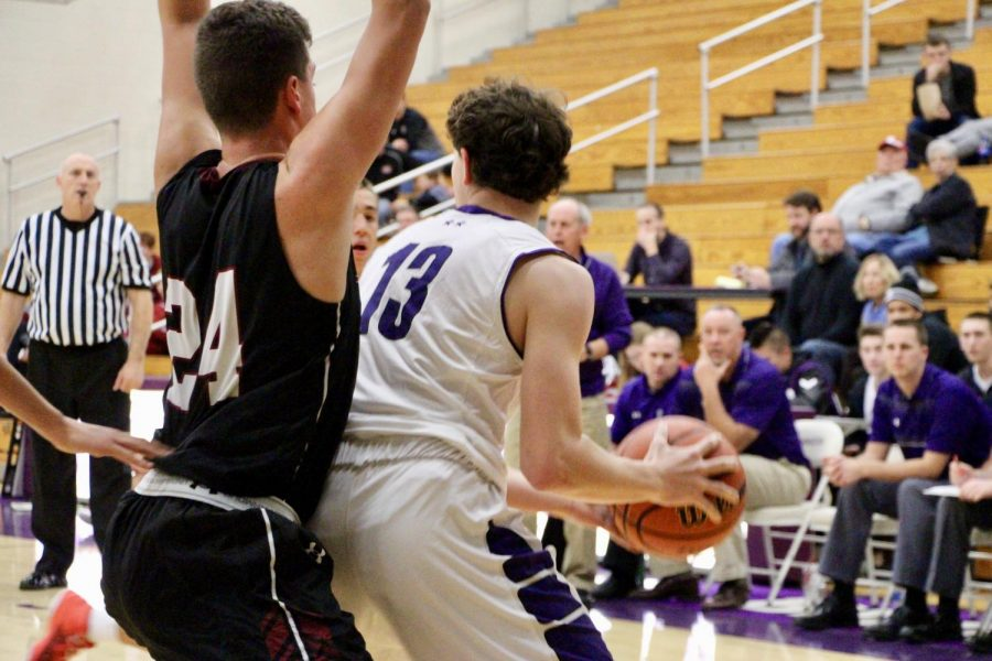 Souths Wil Stockman (13) backs down a Lowell player in the post.