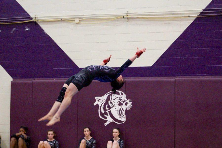Norths Zach Herzing during his floor routine.