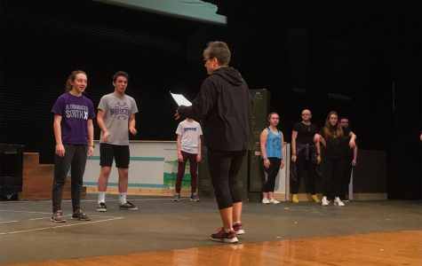 "Theatre South rehearses for ""Footloose"""
