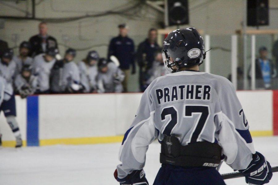 Bloomingtons Eli Prather (27) looks towards the bench.