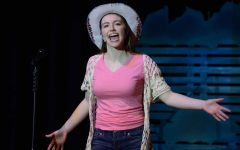 Senior Lauren Bauman performs as Ariel during a dress rehearsal for Theatre South's production of Footloose. | Photo Credit: Steve Perry