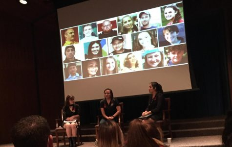 Katherine Posada spoke at IU on Feb. 24 about her experience as a teacher in the Parkland shooting.