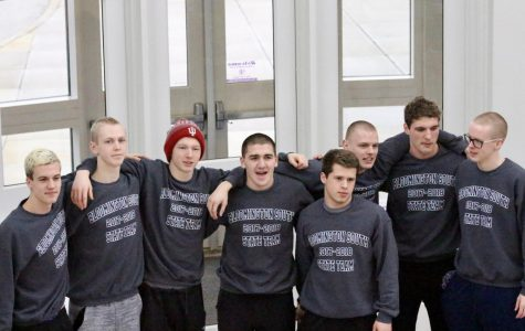 Boys swim team receives state sendoff