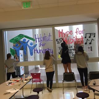 Hype for Habitat window painting