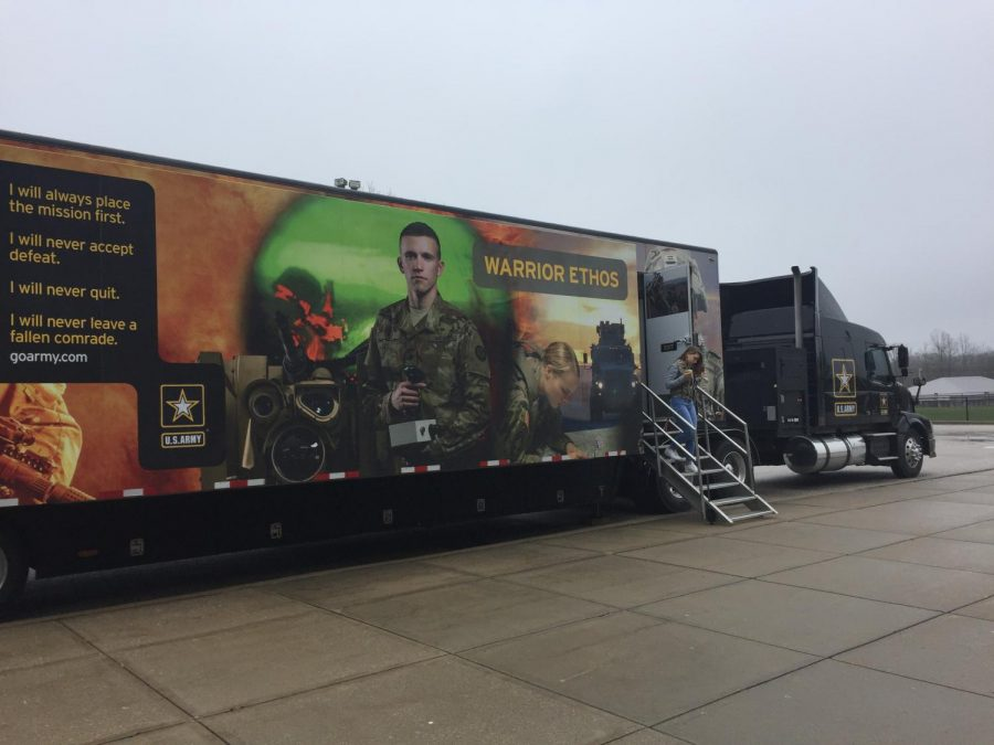 Army parks recruitment van outside of South
