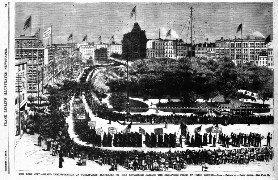 The+first+Labor+Day+parade%2C+New+York+City%2C+Sept.+5%2C+1882
