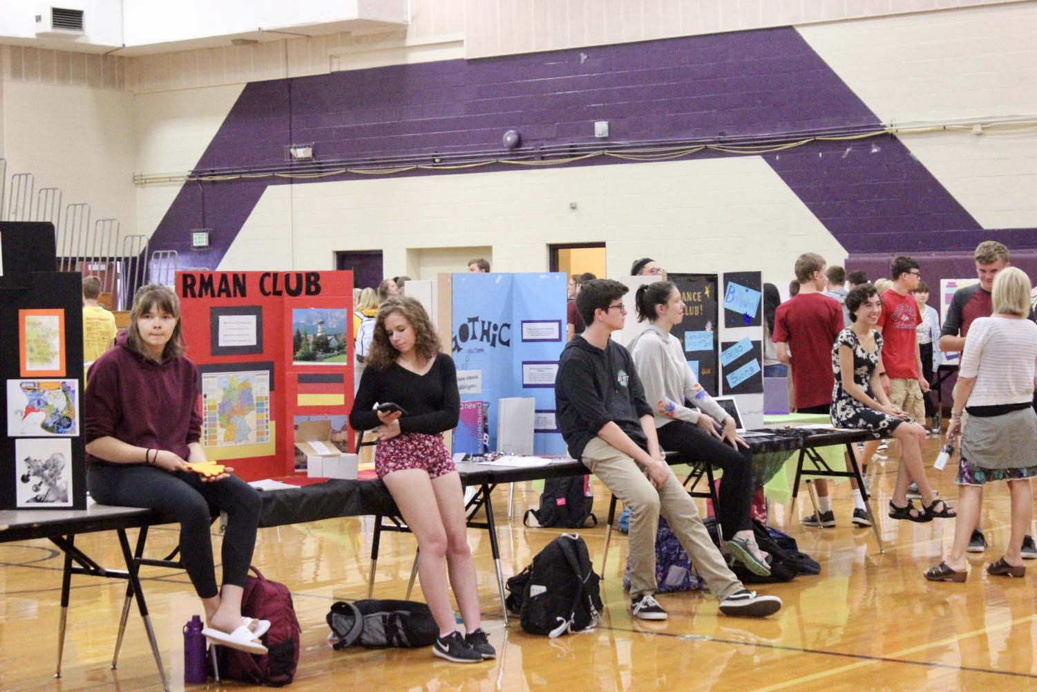 Clubs show what they're all about during Purple Carpet Day.