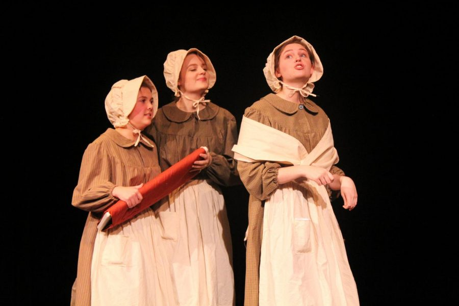 Grania Whelan, Liliana Wagner and Ava Vanderkolff perform a scene from