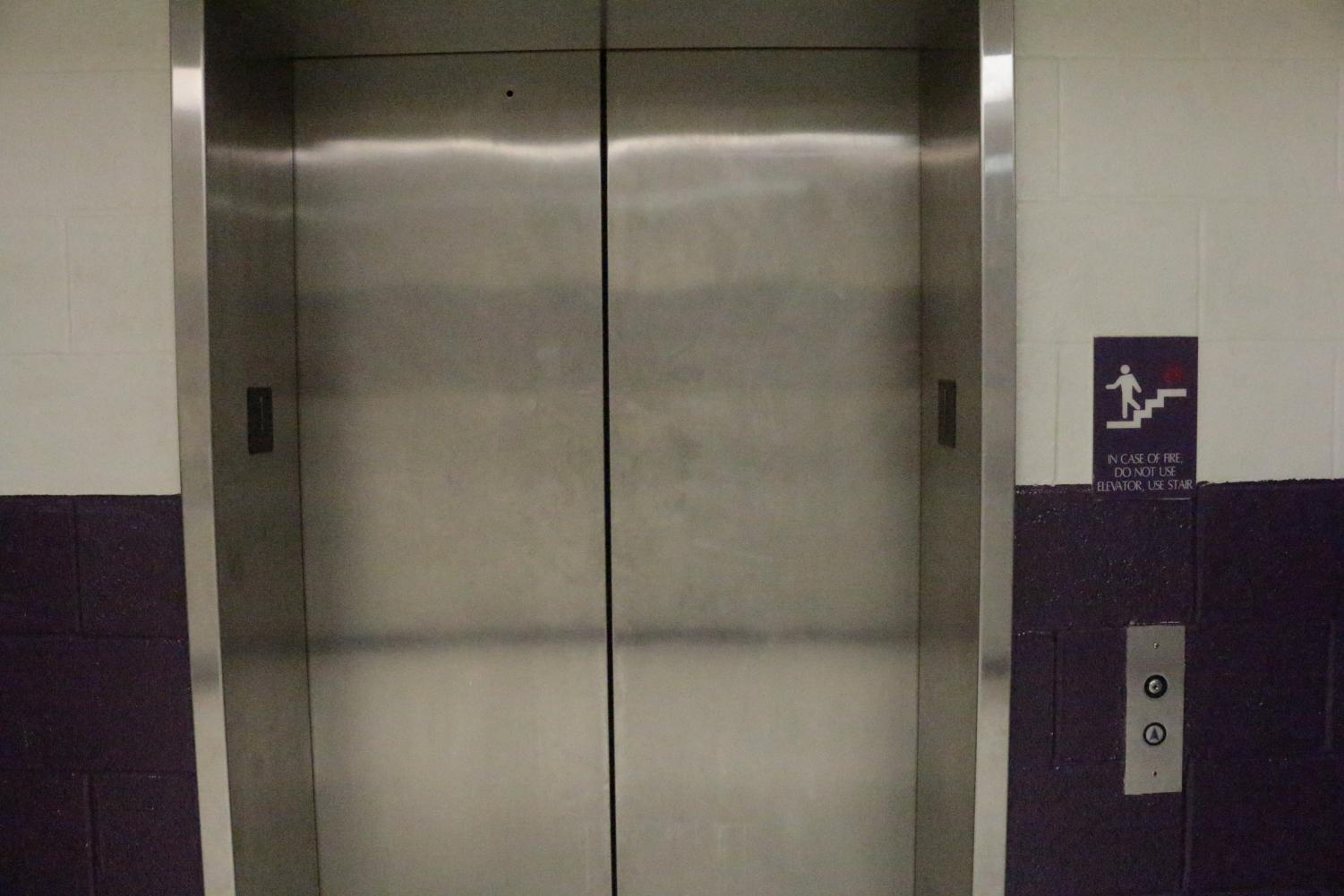 South's single elevator (pictured above) has broken twice in the last week