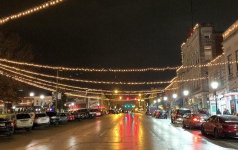 Lights shine bright in downtown Bloomington
