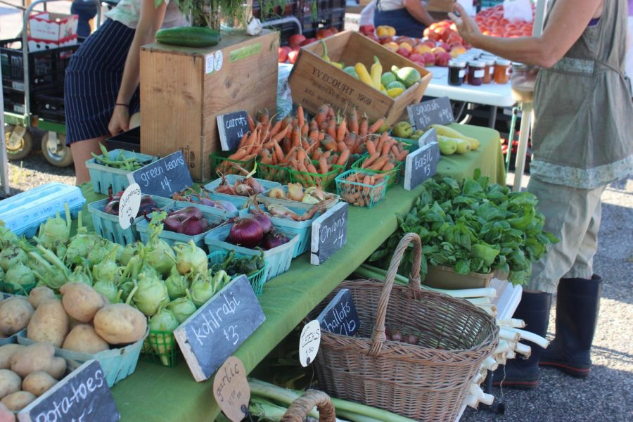 Seven Ridges Farm's local vegetables on a recent Saturday.