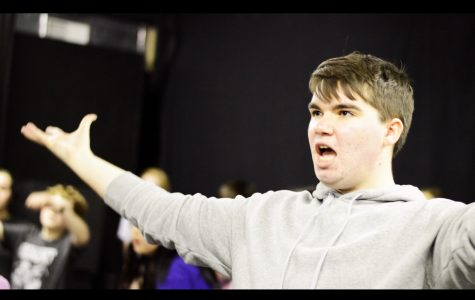 Joey McRoberts rehearses a number in Stages' production of