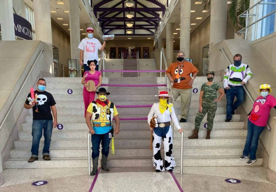 BHSS security guards and nurses dress up for Halloween.