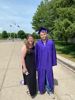 South alumna Chelsie Davidson stopped by school to snap photos of her brother Bradley Davidson, who is graduating this year. Bradley will attend Ivy Tech and would like to be a pilot.