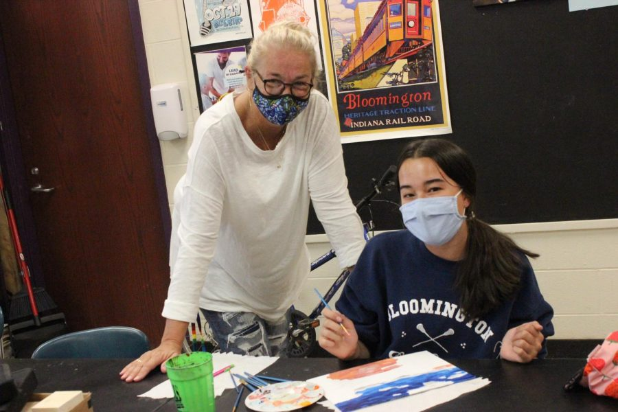 Art students bid fond farewell to Cindy Chrzastowski